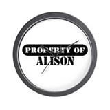 Property of Alison Wall Clock