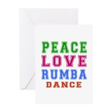 Peace Love Rumba Dance Designs Greeting Card