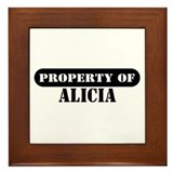 Property of Alicia Framed Tile