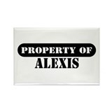 Property of Alexis Rectangle Magnet (10 pack)