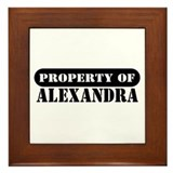 Property of Alexandra Framed Tile