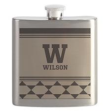 Simple Clean Elegant Monogram Flask
