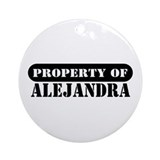 Property of Alejandra Ornament (Round)