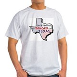 Everything is Bigger in Texas Ash Grey T-Shirt