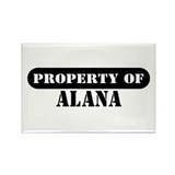 Property of Alana Rectangle Magnet (100 pack)