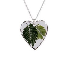 Fine Leaved Embossed Ferns Necklace