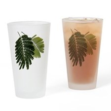 Fine Leaved Embossed Ferns Drinking Glass
