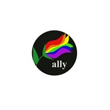 button ally flower 2 Mini Button (10 pack)
