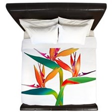 Bird of Paradise Trio King Duvet