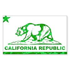 california bear camo green Decal