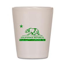 california bear camo green Shot Glass
