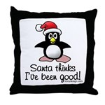 Bad Penguin Throw Pillow