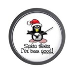 Bad Penguin Christmas Wall Clock