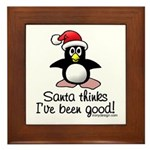 Bad Penguin Christmas Framed Tile Picture