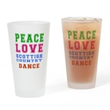 Peace Love Scottish Country Dance Designs Drinking