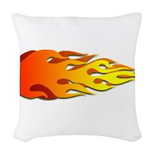 Racing Flames Woven Throw Pillow