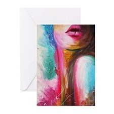 pink lips Greeting Cards (Pk of 20)