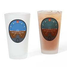 Airplane Attitude Indicator Drinking Glass