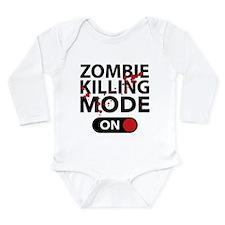 Zombie Killing Mode On Long Sleeve Infant Bodysuit