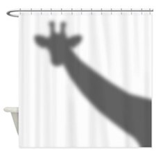 Giraffe Shadow Shower Curtain