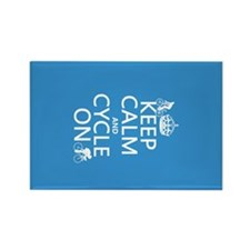 Keep Calm and Cycle On Rectangle Magnet (10 pack)