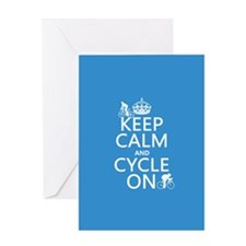 Keep Calm and Cycle On Greeting Card