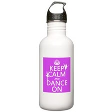 Keep Calm and Dance On (ballet) Sports Water Bottl