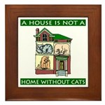 Cats Framed Tile