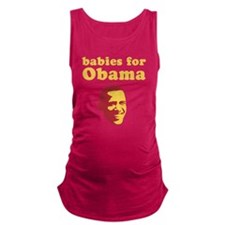 Babies For Obama Maternity Tank Top