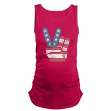 Peace Sign USA Vintage Maternity Tank Top