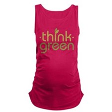 Think Green [text] Maternity Tank Top
