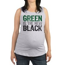 green_new_black.png Maternity Tank Top