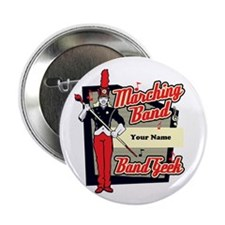 "Marching Band Geek (Red) 2.25"" Button (10 pack)"