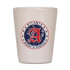 Atlanta born raised blue Shot Glass