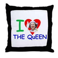 Cute Elizabeth ii Throw Pillow