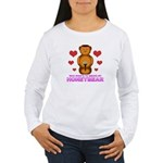 Honeybear Hearts Women's Long Sleeve T-Shirt