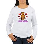 Honeybear Hearts Women's Long Sleeve T-Shirt
