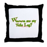 Wanna See My Yule Log? Throw Pillow