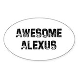 Awesome Alexus Oval Decal