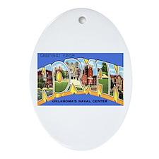 Norman Oklahoma Greetings Oval Ornament