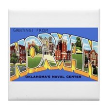 Norman Oklahoma Greetings Tile Coaster