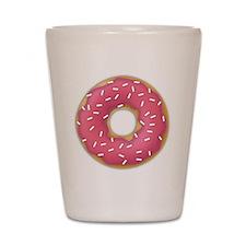 pink frosted sprinkles donut doughnut Shot Glass