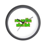 I'm On The Nice List Wall Clock