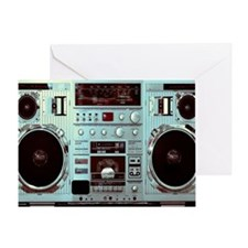 Boom Box Fun Greeting Card