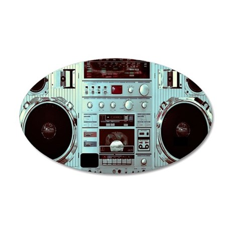 Boom Box Fun 35x21 Oval Wall Decal