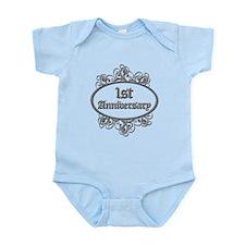 1st Wedding Aniversary (Engraved) Infant Bodysuit