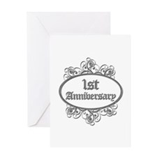 1st Wedding Aniversary (Engraved) Greeting Card
