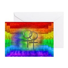 Gay Pride Lesbian Art Greeting Card