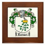 Ronan Coat of Arms Framed Tile