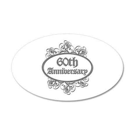 60th Wedding Aniversary (Engraved) 35x21 Oval Wall